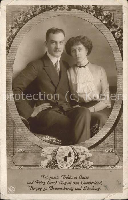 Adel Braunschweig Prinzessin Viktoria Luise Prinz Ernst August  Kat. Koenigshaeuser