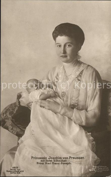 Adel Preussen Prinzessin Joachim Prinz Karl Franz Joseph Kat. Koenigshaeuser