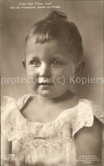 Adel Preussen Prinz Karl Franz Josef Kat. Koenigshaeuser