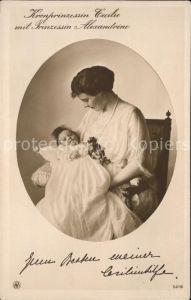 Adel Preussen Kronprinzessin Cecilie Prinzessin Alexandrine Kat. Koenigshaeuser