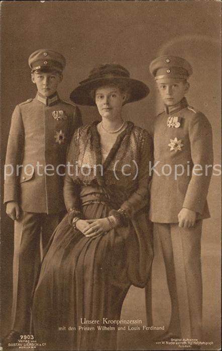Adel Preussen Kronprinzessin Cecilie Prinz Wilhelm Louis Ferdinand Kat. Koenigshaeuser