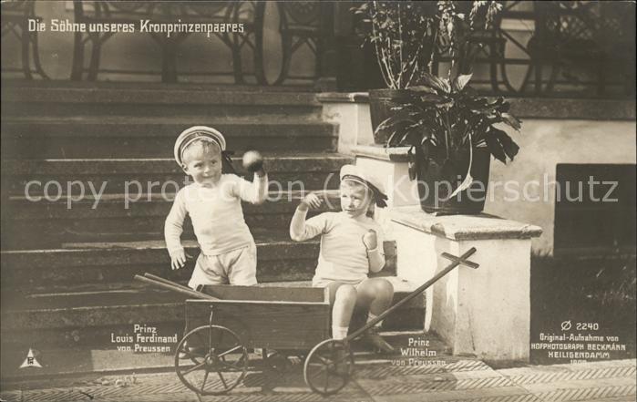 Adel Preussen Prinz Louis Ferdinand Prinz Wilhelm Kat. Koenigshaeuser