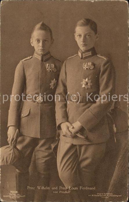 Adel Preussen Prinz Wilhelm Prinz Louis Ferdinand Kat. Koenigshaeuser