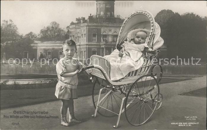 Kinderwagen Prinz Wilhelm und Prinz Louis Ferdinand von Preussen Kat. Kinder