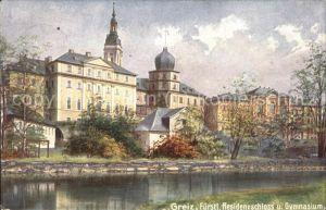 Verlag WIRO Wiedemann Nr. 1108 Greiz Residenzschloss und Gymnasium Kat. Verlage