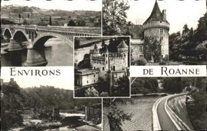 Roanne Loire Pont de Villerest Chateau de Boisy Kat. Roanne