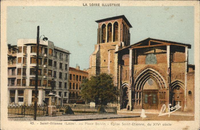 Saint Etienne Loire Place Solvin Eglise Saint Etienne Kat. Saint Etienne