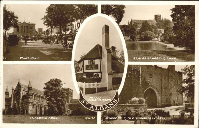 St Albans Town Hill St. Albans Abbey Gardens Kat. St Albans