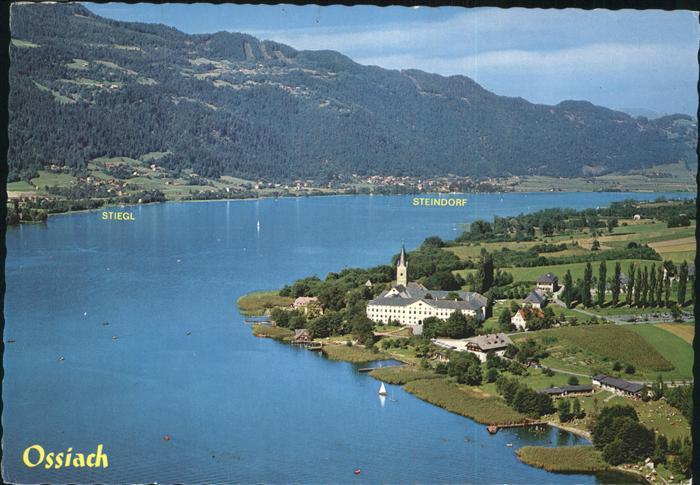 Ossiach Stift mit Ossiacher See Stiegl und Steindorf Kat. Ossiach