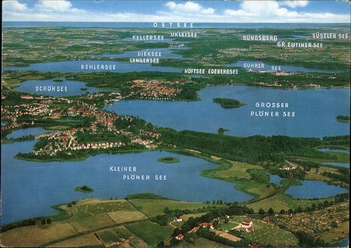 Ploen See mit Kleinem u.Grossem Ploenser mit Kleinem u.Grossem Ploener See  / Ploen /Ploen LKR