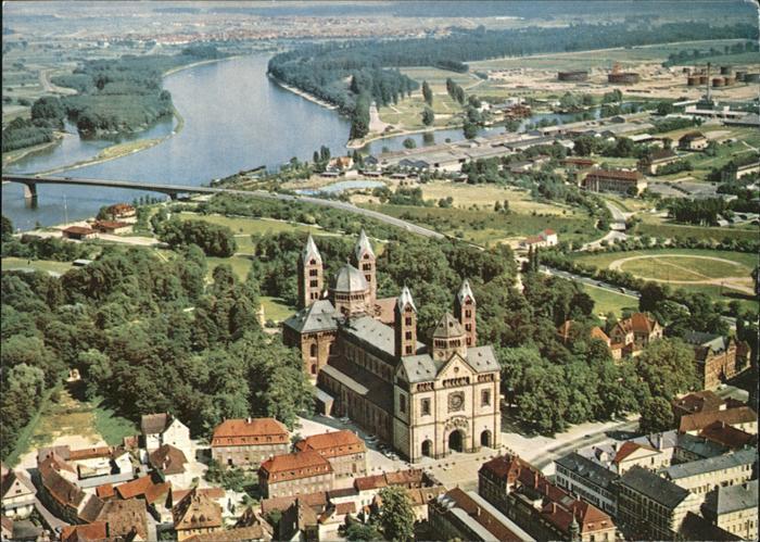 Speyer Rhein mit Dom Kat. Speyer