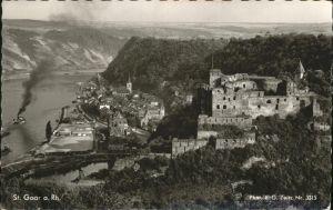 St Goar mit Ruine Rheinfels Kat. Sankt Goar