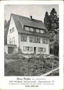 Wildbad Schwarzwald Haus Kohler Kat. Bad Wildbad