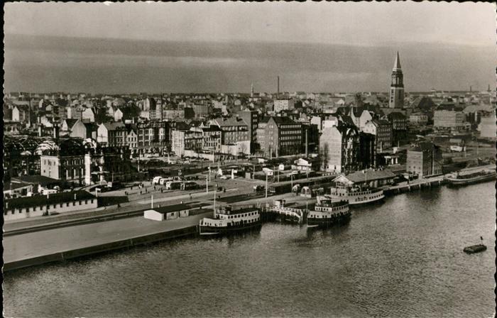Kiel Hafen am Bahnhof Fliegeraufnahme Kat. Kiel