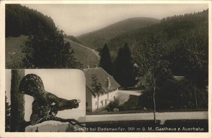 Sirnitz Gasthaus zum Auerhahn Kat. Badenweiler
