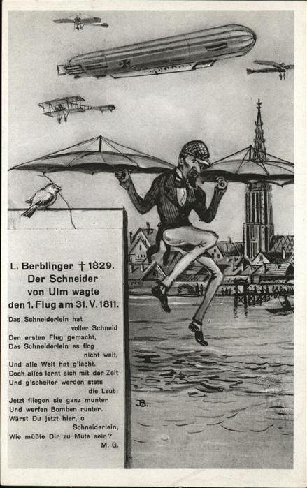 Ulm Donau Karikatur Der Schneider von Ulm Kat. Ulm