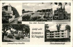Bremen An der Lesum Krankenhaus Juenglingshalle Ilsabeenstift Kat. Bremen