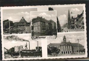 Herne Westfalen Bahnhofstrasse Zeche Friedrich d Grosse Rathaus / Herne /Herne Stadtkreis