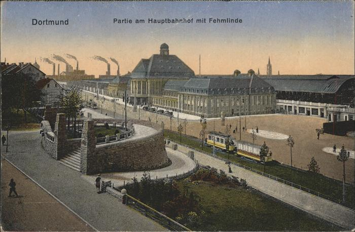 Dortmund Hauptbahnhof mit Vehmlinde Kat. Dortmund