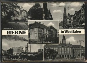 Herne Westfalen parkhaus Schloss Struenkede Bahnhofstr Zeche Friedr d Grosse Rathaus / Herne /Herne Stadtkreis