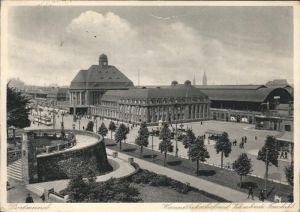Dortmund Hauptbahnhof mit Vehmlinde und Freistuhl Kat. Dortmund