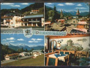 Oberau Berchtesgaden Gasthof Pension Priesterstein Kat. Berchtesgaden