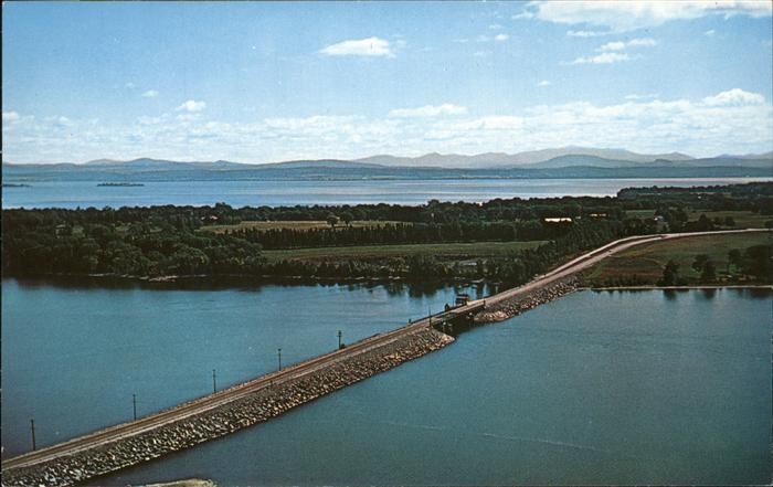South Hero Bridge on U.S. 2 North Hero Lake Champlain Green Mountains / South Hero /