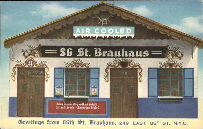 New York City 86th Street Brauhaus / New York /