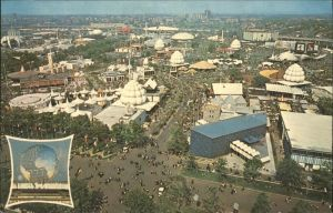 New York City World's Fair 1964 - 1965 view from the Observation Tower New York State Pavilion Court of Nations Truman Promenade Unisphere / New York /