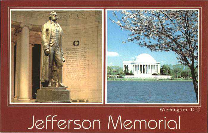 Washington DC Jefferson Memorial President Declaration of Independance Kat. Washington