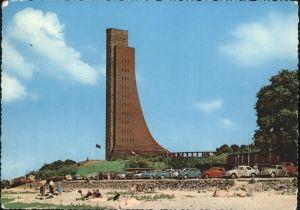 Kiel Marinedenkmal Autos Strand Kat. Kiel