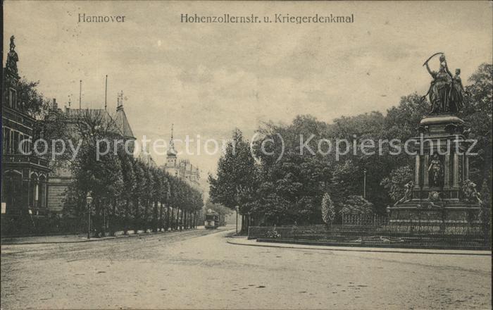 Hannover Hohenzollernstrasse u.Kriegerdenkmal Kat. Hannover