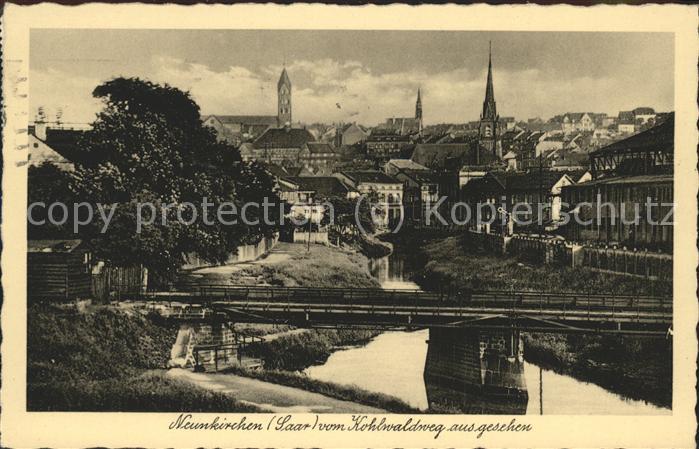 Neunkirchen Saar Blick vom Kohlwaldweg Kat. Neunkirchen