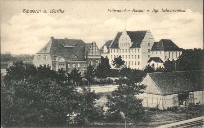 Schwerin Warthe Praeparanden Anstalt Lehrerseminar *