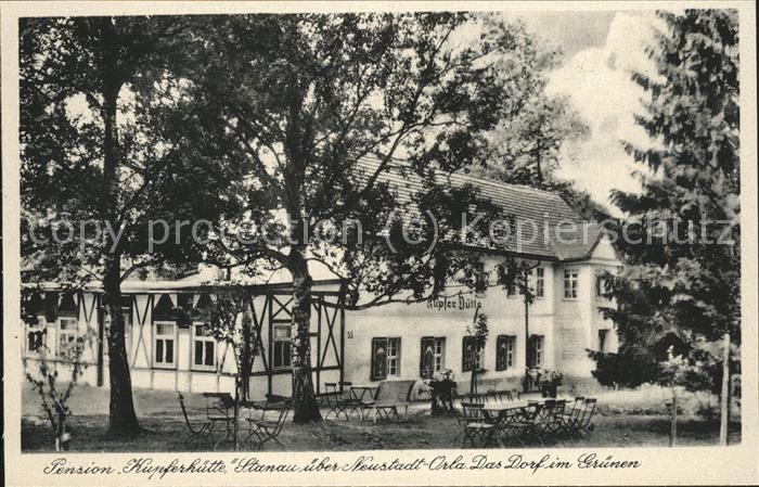 Neustadt Orla Pension Kupferhuette Garten Kat. Neustadt Orla