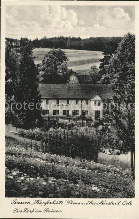 Neustadt Orla Pension Kupferhuette Dorf Gruenen Kat. Neustadt Orla