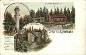 Kickelhahn Gabelbach Restauration Goethe Greis Kat. Ilmenau