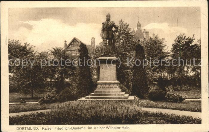Dortmund Kaiser Friedrich Denkmal im Kaiser Wilhelm Hain Kat. Dortmund