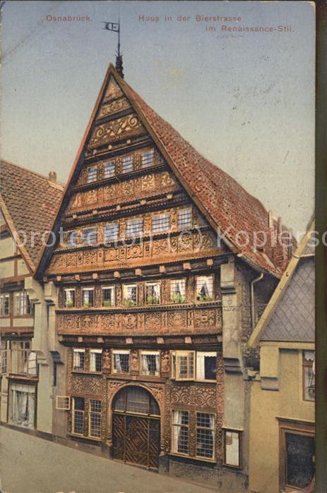 Osnabrueck Haus in Bierstrasse im Renaissance Stil Kat. Osnabrueck