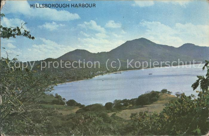 Hillsborough Carriacou Inner Harbour viewed from Craigston Kat. Hillsborough