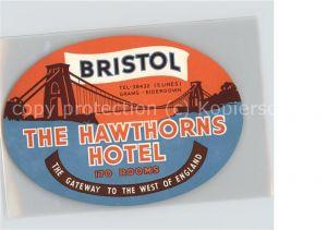 Bristol UK The Hawthorns Hotel Etikett / Bristol, City of /Bristol, City of