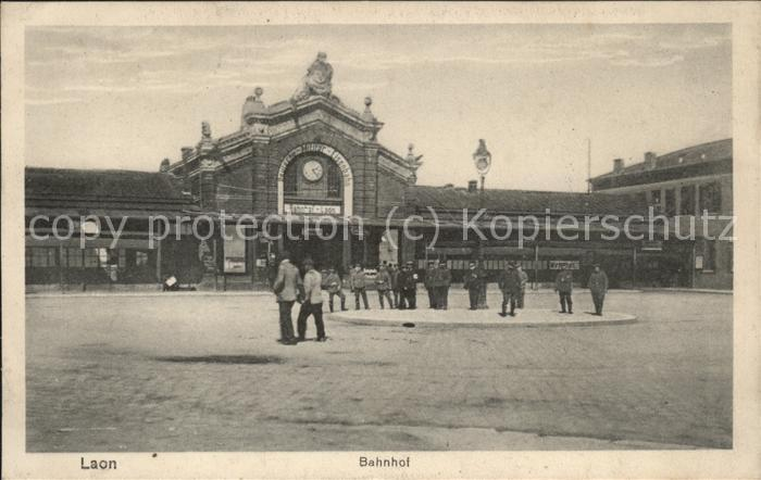 Laon Aisne Bahnhof Kat. Laon