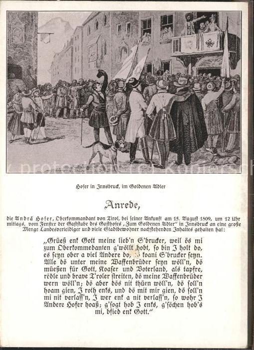 Innsbruck Gasthof Zum Goldenen Adler Herzog Friedrich Str.  Kat. Innsbruck
