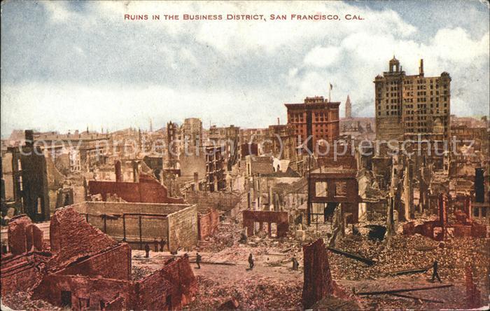 San Francisco California Ruins in The Business District Kat. San Francisco
