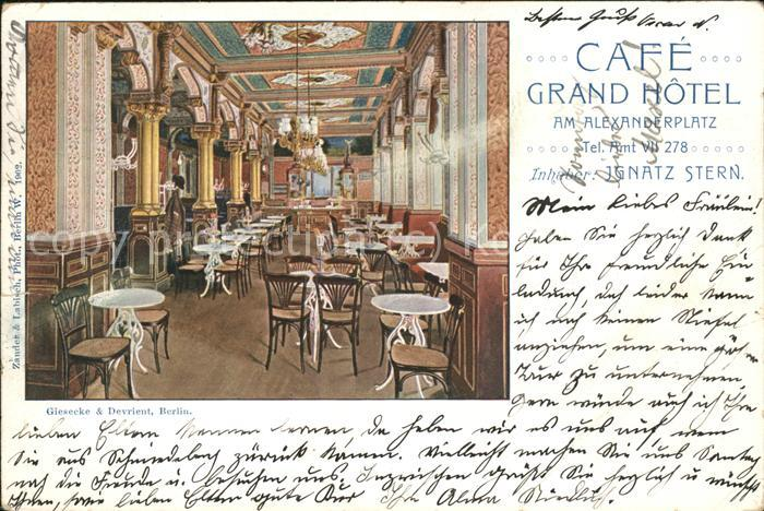 Berlin Cafe Grand Hotel  am Alexanderplatz Kat. Berlin