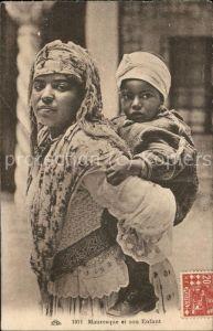 Araber Mauresque et son Enfant Scenes et Types Alger Kat. Typen