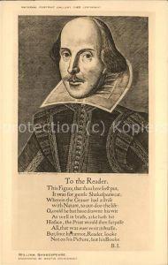 Shakespeare William National Portrait Gallery Kat. Persoenlichkeiten