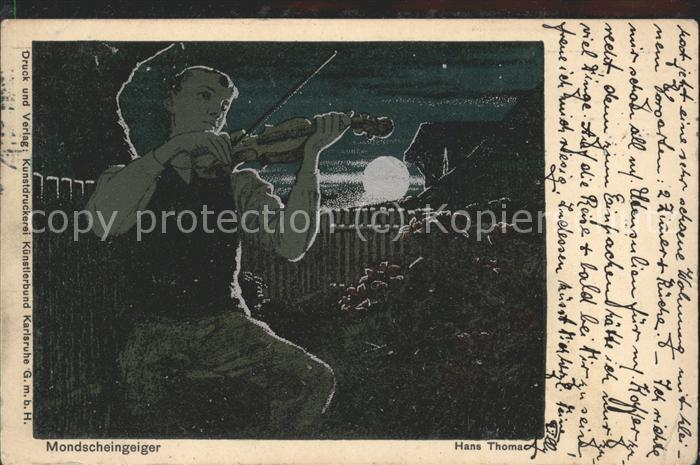 Thoma Hans Mondscheingeiger Kat. Kuenstlerkarte