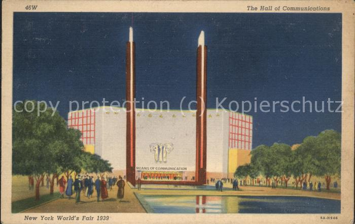 Exposition Worlds Fair New York 1939 Hall of Communications Kat. Expositions