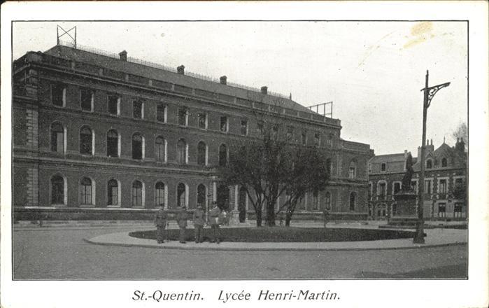 aw13378 St Quentin Aisne Lycee Henri-Martin Kategorie. Saint-Quentin Alte Ansichtskarten